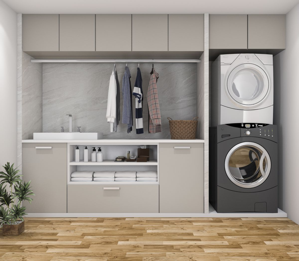 projektowanie pralni w domu
