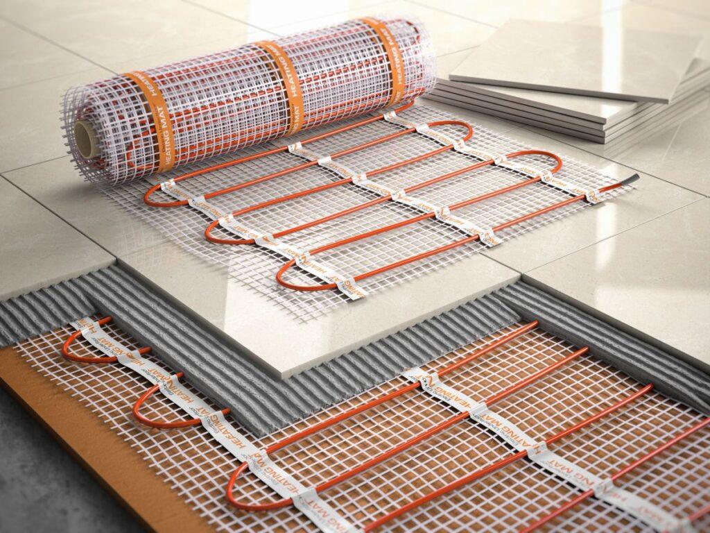montaż ogrzewania podłogowego pod kafelkami